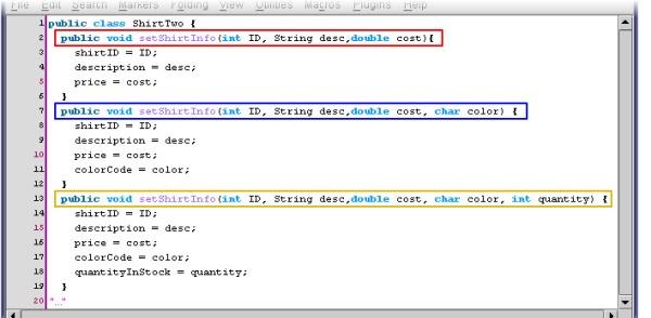 Uses for method overloading 1