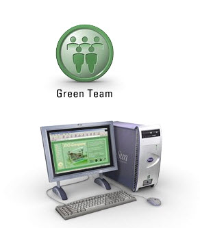 2. green team with internet
