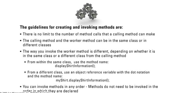 Guidelines for invoking methods